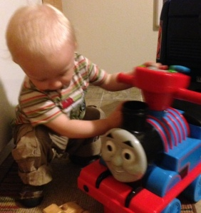 Viren working on his train