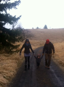 Grandma , Grandpa and Viren: Hiking Near Moscow, Idaho, November 30, 2013