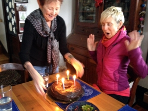 Genean's Birthday Cake for Helen at Christine's House: photo by Christine Saari
