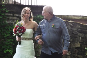 Diana and her dad: Knoxville Botanical Garden, May 10, 2014