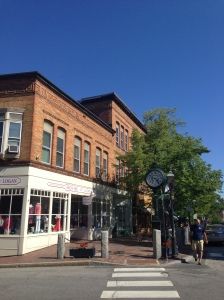 The corner in Bath, Maine: June 2014