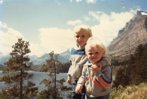 The brothers at Glacier: Summer, 1984