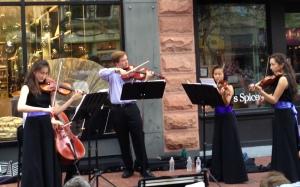 InTune String Ensemble: Pearl Street, Boulder, Colorado, August 2014