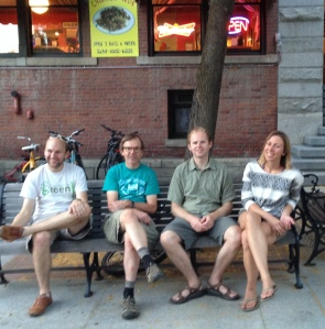 Hanging out in downtown Moscow; some of the family, July 2014