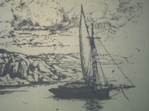 The Falka: etching by Ernest Haskell