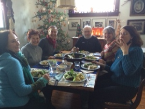 Writjng Group Savoring Epiphany Meal