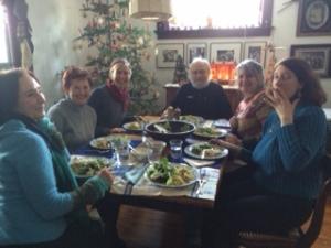 Writjng Group Savoring Epiphany Meal