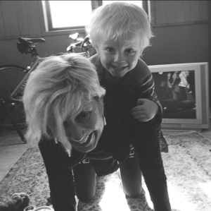 Viren and Grandma Helen horsing around: Moscow, Idaho, March 2015
