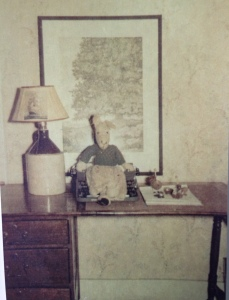 My storytelling father's desk: circa 1950's