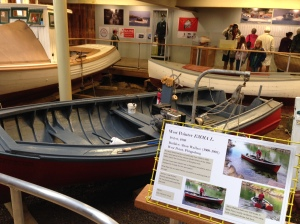 The Emma L., the boat of my childhood and one that my brother restored; Maritime Museum, Bath, Maine; July 2015