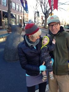 With grand baby, Viren, November 2012