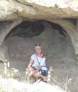Sitting on the throne of Aphrodite: Aphrodite's Cave, Kythera, Greece, May 2015
